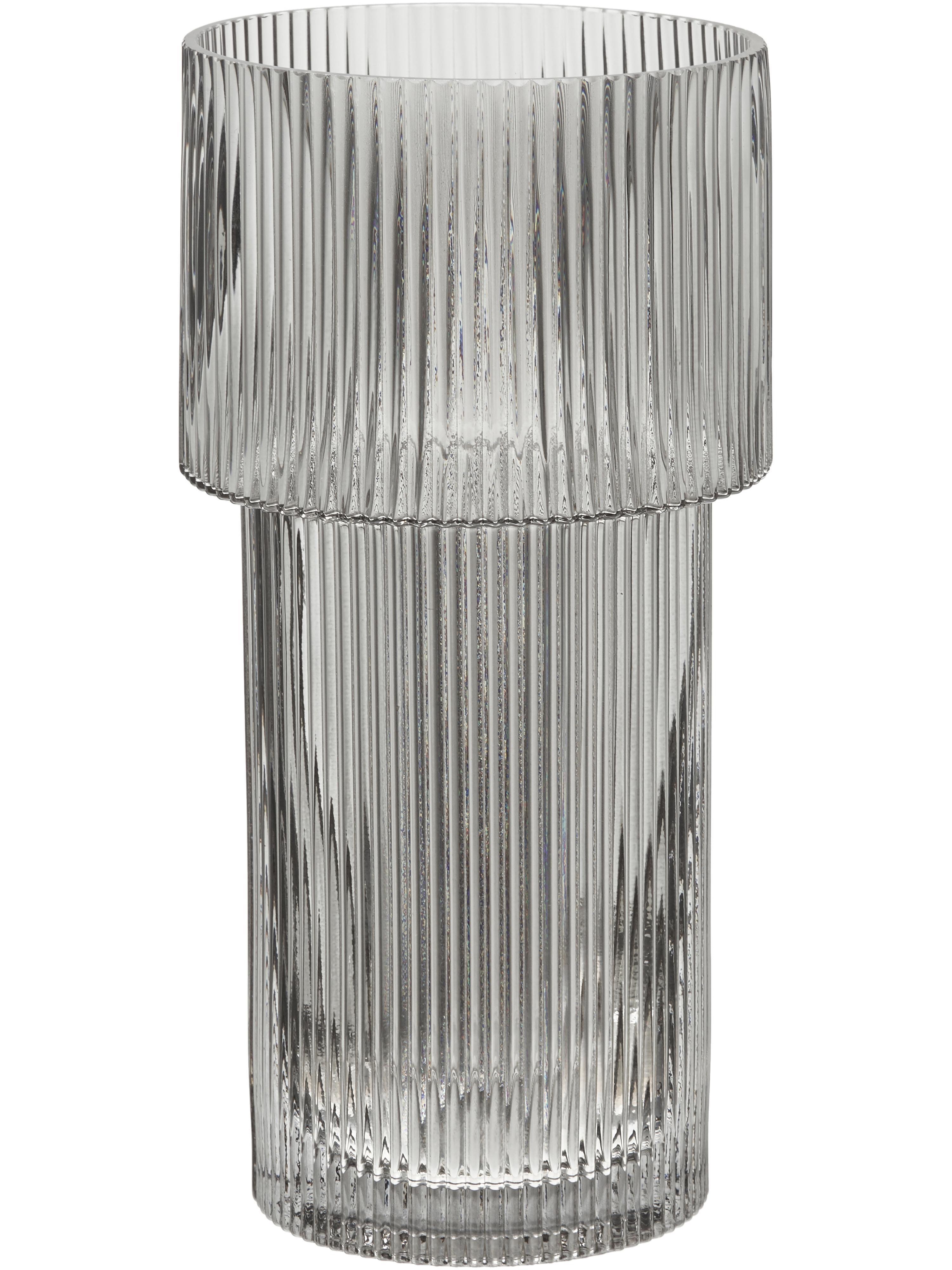 Vaas Lija, Glas, Transparant, Ø 14 x H 30 cm