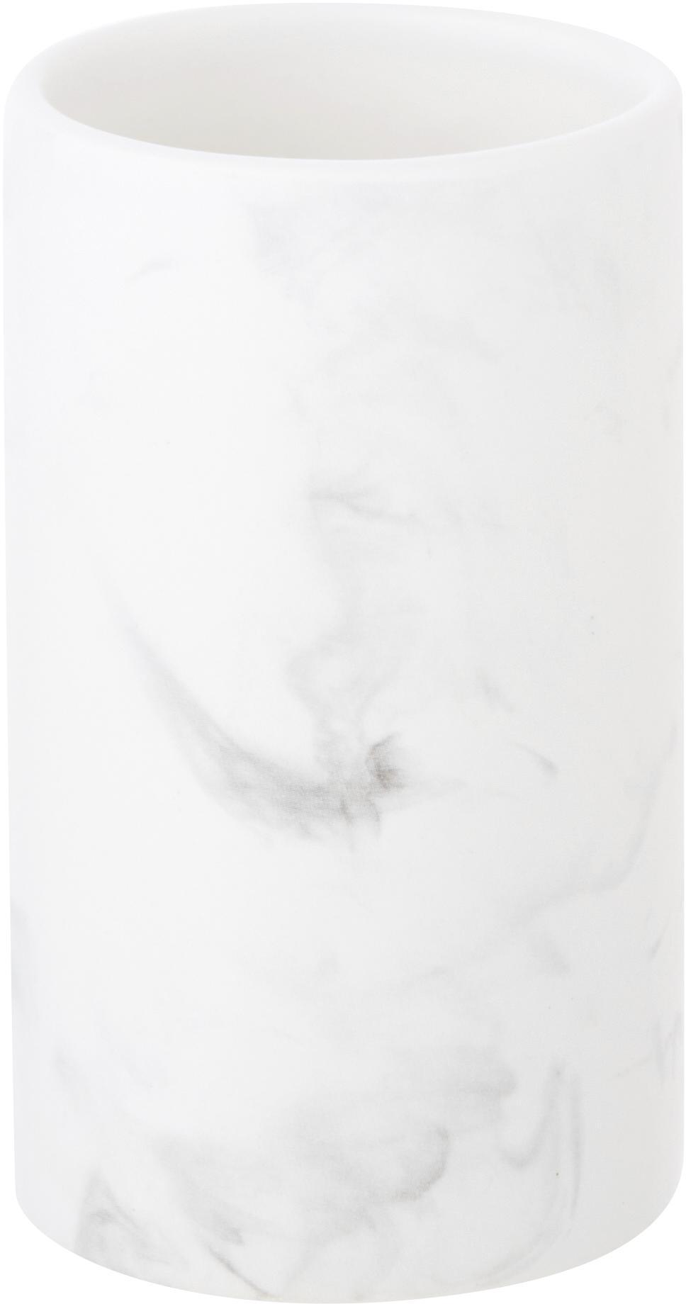 Keramieken tandenborstelbeker Daro, Keramiek, Wit, Ø 7 x H 11 cm