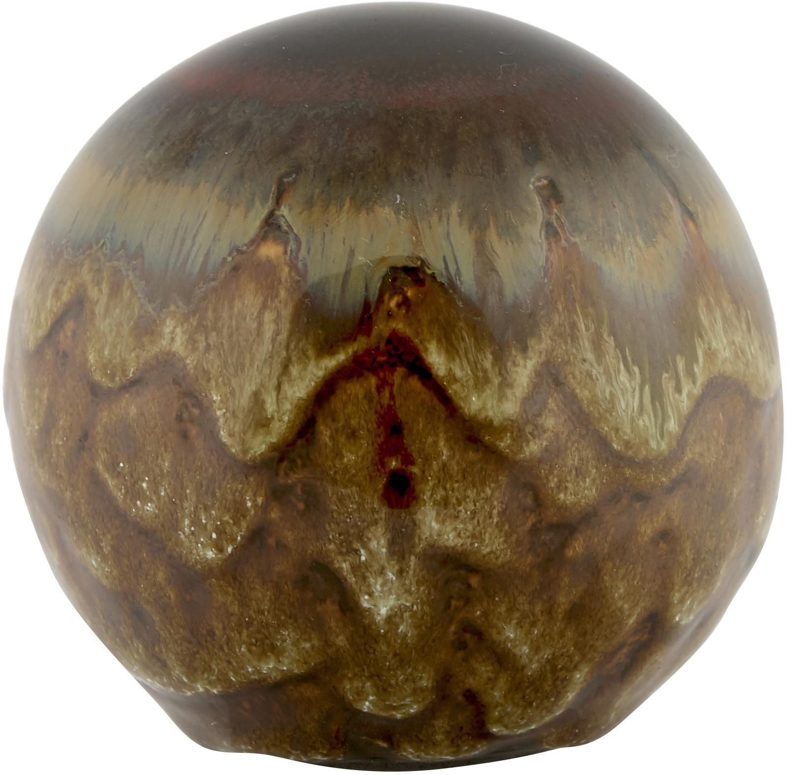 Handgefertigtes Deko-Kugel-Set Energy, 5-tlg., Steingut, Mehfarbig, Ø 8 cm
