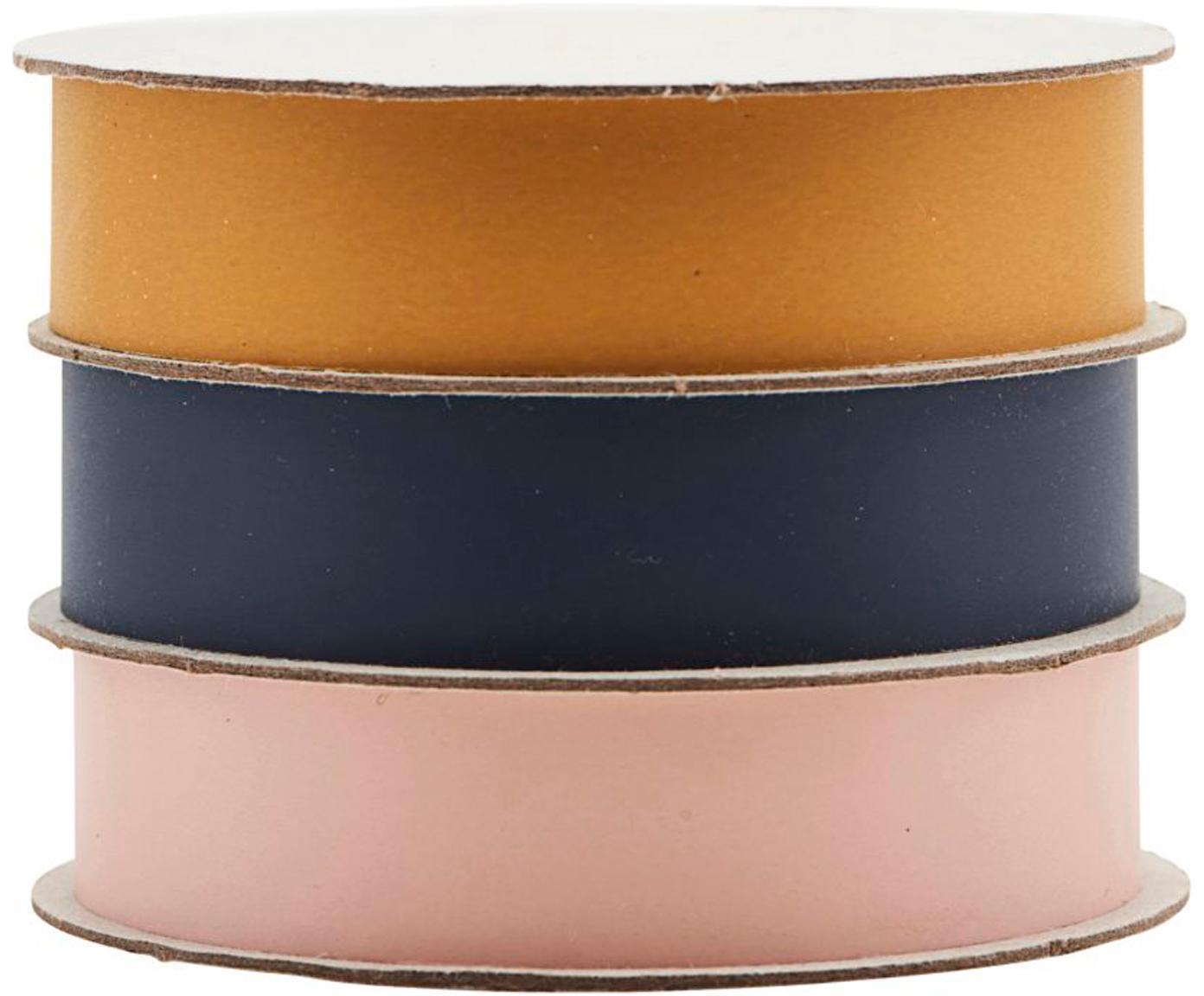 Set de cintas para regalo Polly, 3pzas., Plástico, Amarillo, azul oscuro, rosa, L 1000 cm