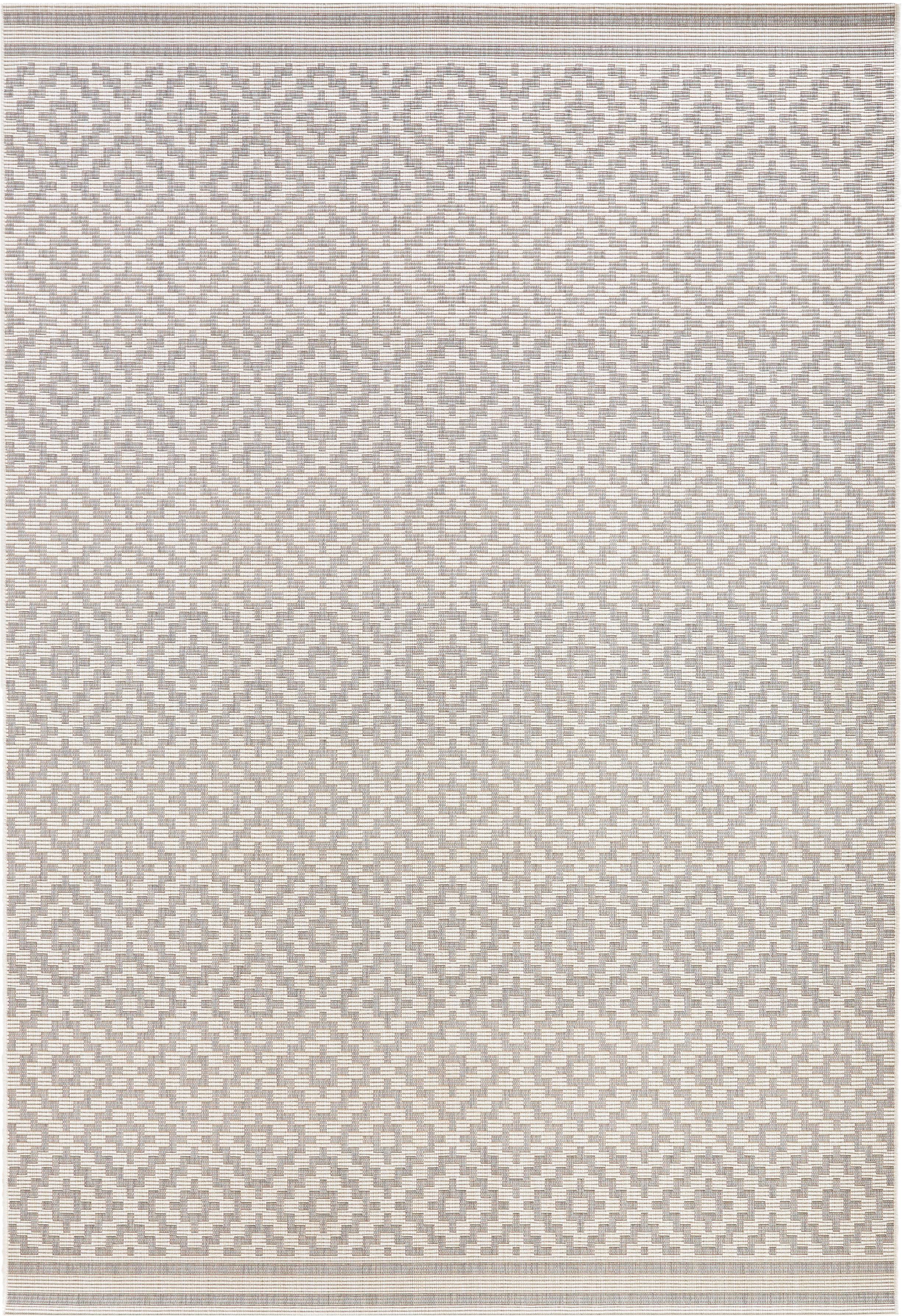 Alfombra de interior/exterior Meadow Raute, Gris, beige, An 140 x L 200 cm (Tamaño S)