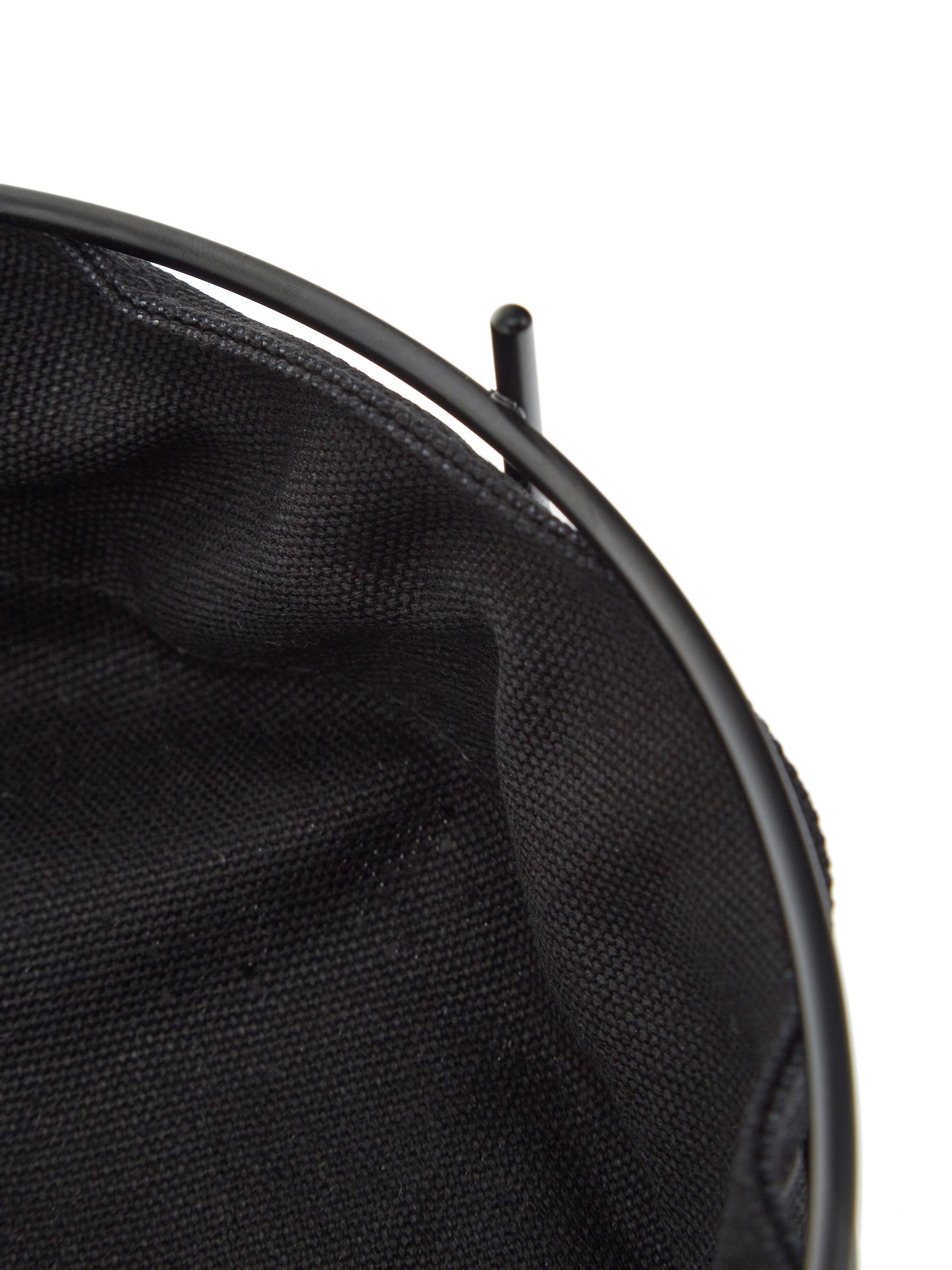 Brotkorb Gola mit herausnehmbarem Einsatz, Brotkorb: Metall, beschichtet, Beutel: Baumwolle, Schwarz, Ø 26 x H 8 cm