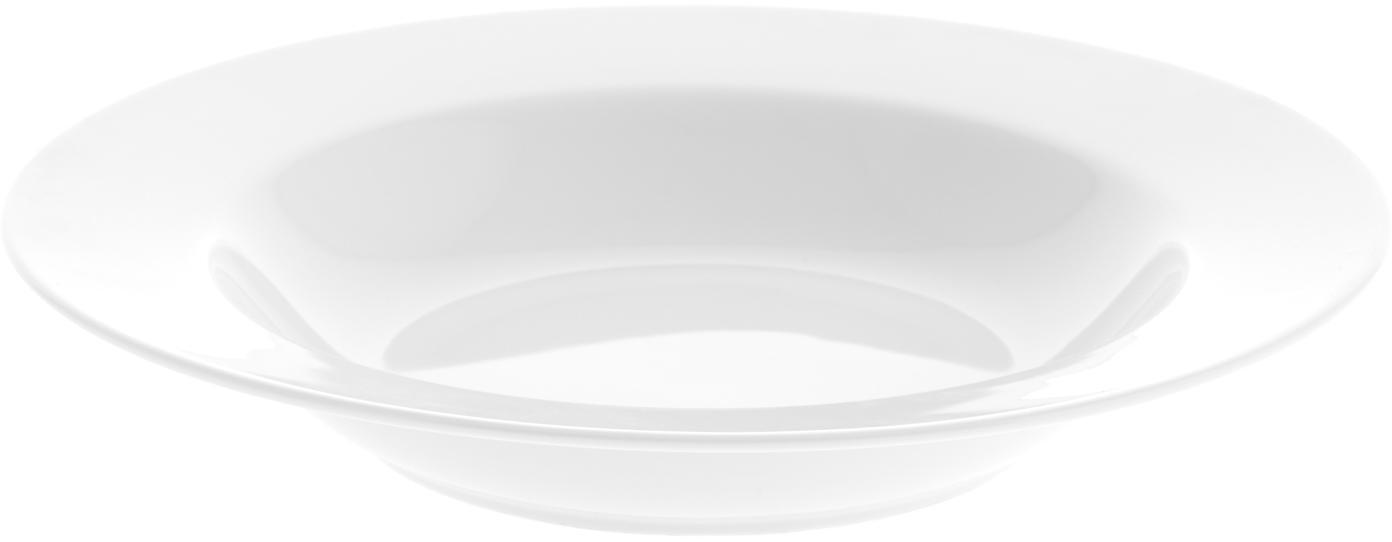 Talerz głęboki Delight Classic, 2 szt., Porcelana, Biały, Ø 23 x W 4 cm