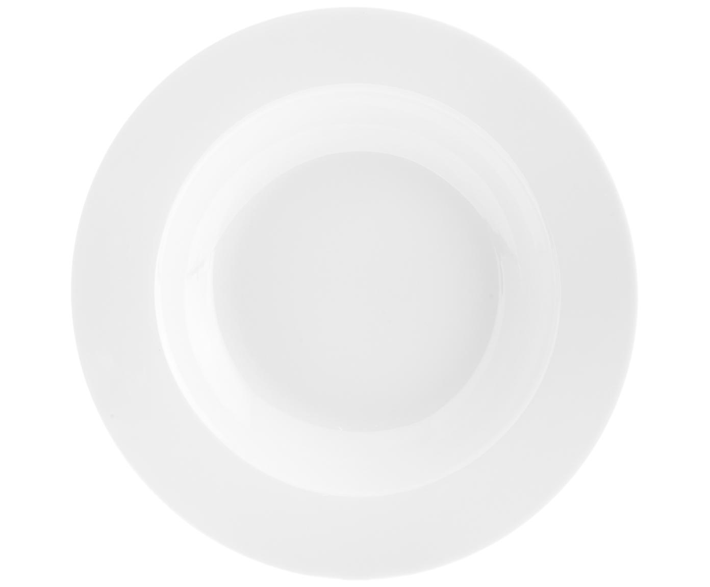 Piatto fondo Delight Classic 2 pz, Porcellana, Bianco, Ø 23 x Alt. 4 cm