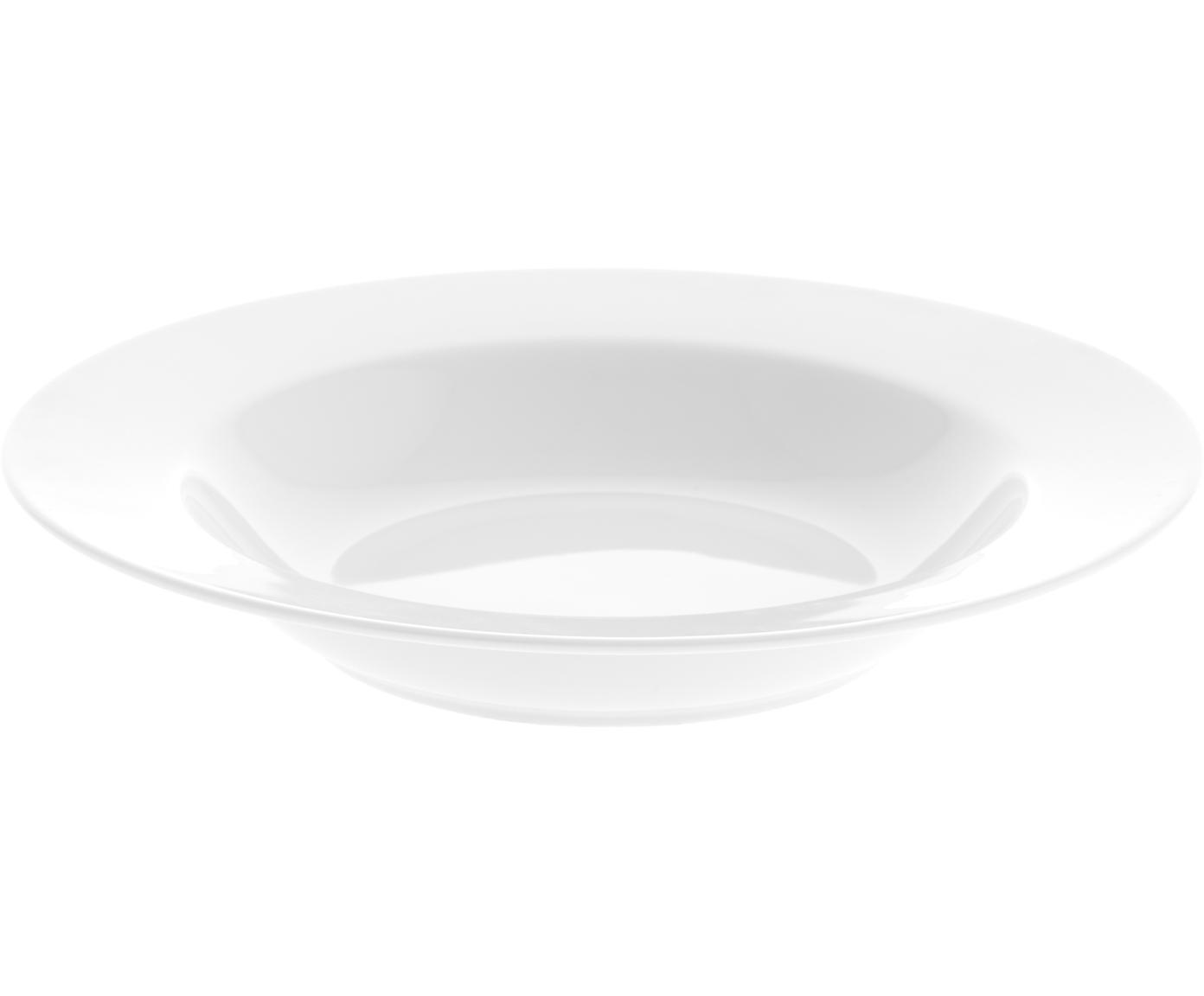 Porzellan-Suppenteller Delight Classic in Weiß, 2 Stück, Porzellan, Weiß, Ø 23 x H 4 cm