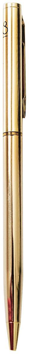 Długopis Golda, Metal lakierowany, Odcienie mosiądzu, Ø 1 x D 15 cm