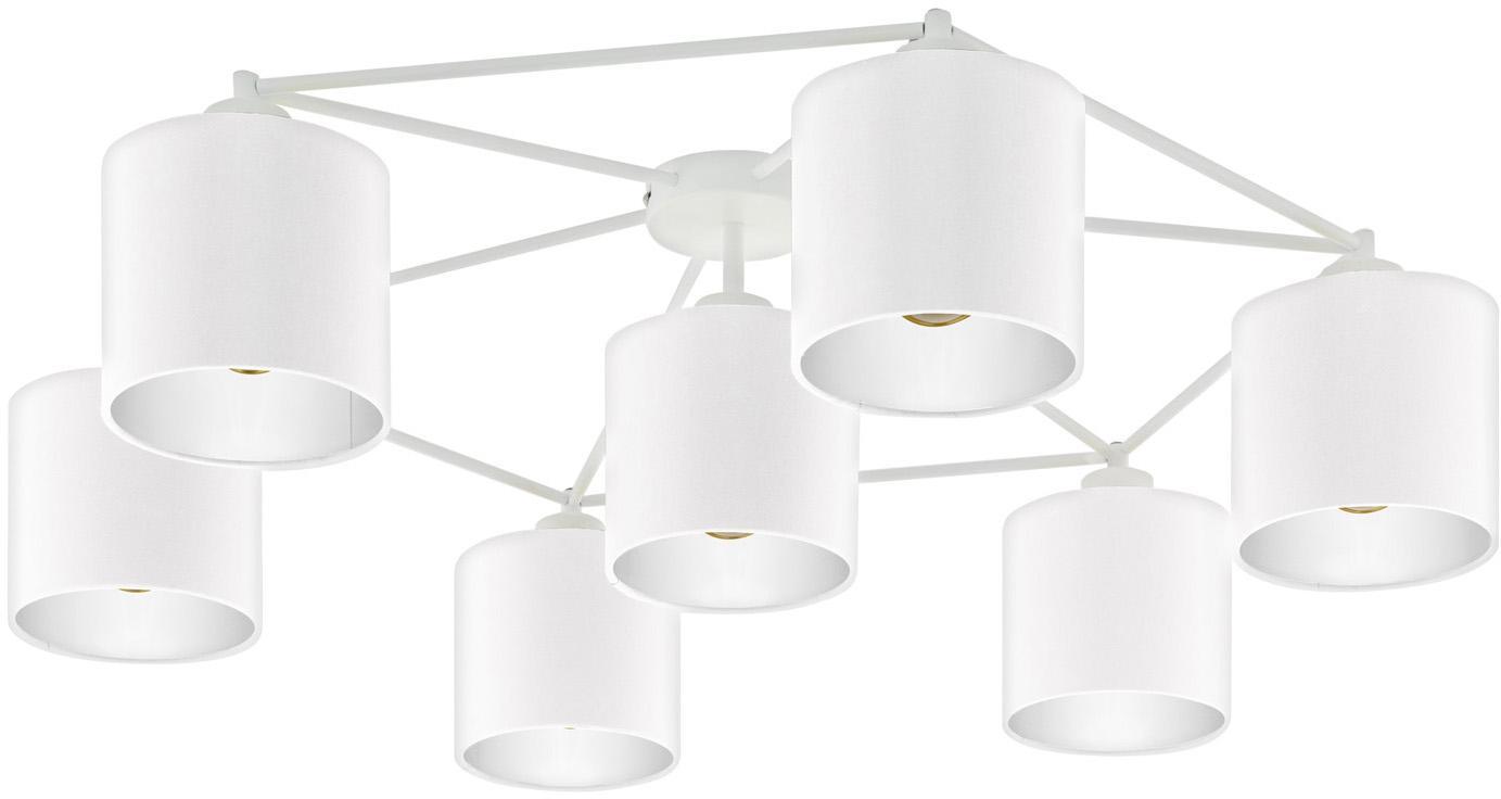 Plafondspot Staiti in wit, Lampenkap: polyester, Wit, Ø 84 x H 24 cm