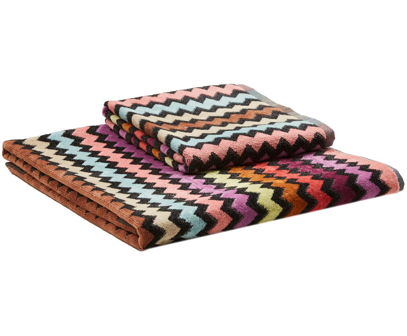 Designer Handtuch-Set Warner, 2-tlg., Webart: Veloursfrottee, Mehrfarbig, Sondergrößen