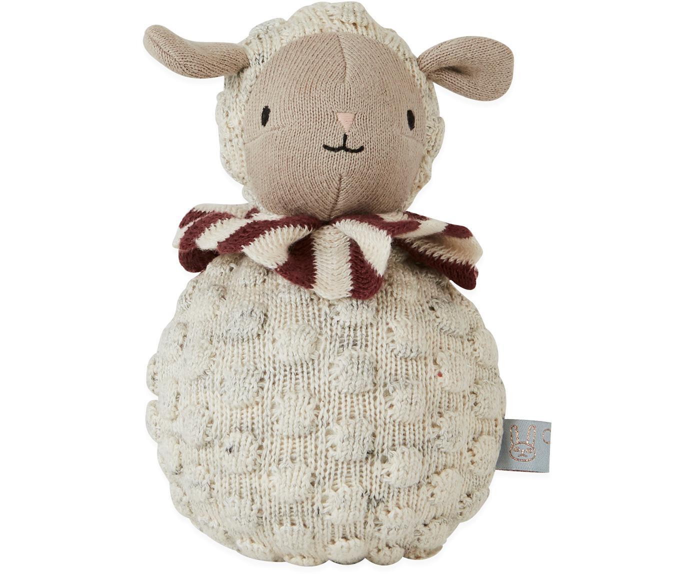 Wańka-wstańka z bawełny  Poly, Bawełna, Kremowy, beżowy, rudy, Ø 11 x W 21 cm