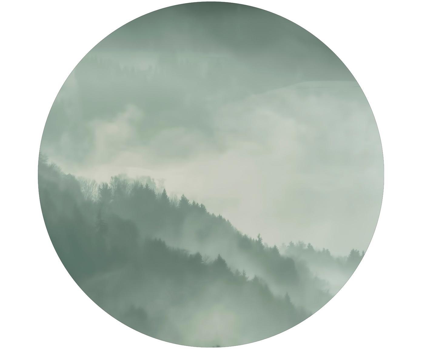 Druk cyfrowy na drewnie Holy Land, Płyta pilśniowa średniej gęstości (MDF), nadruk, Szary, biały, Ø 70 cm