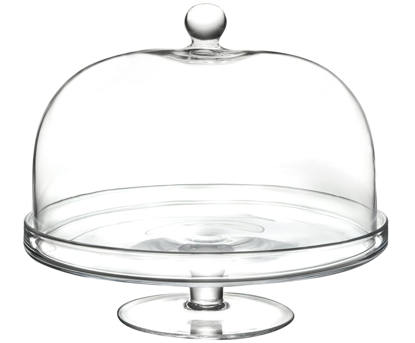 Fuente para poste de vidrio Lia, Cristal Luxion, Transparente, Ø 30 x Al 26 cm
