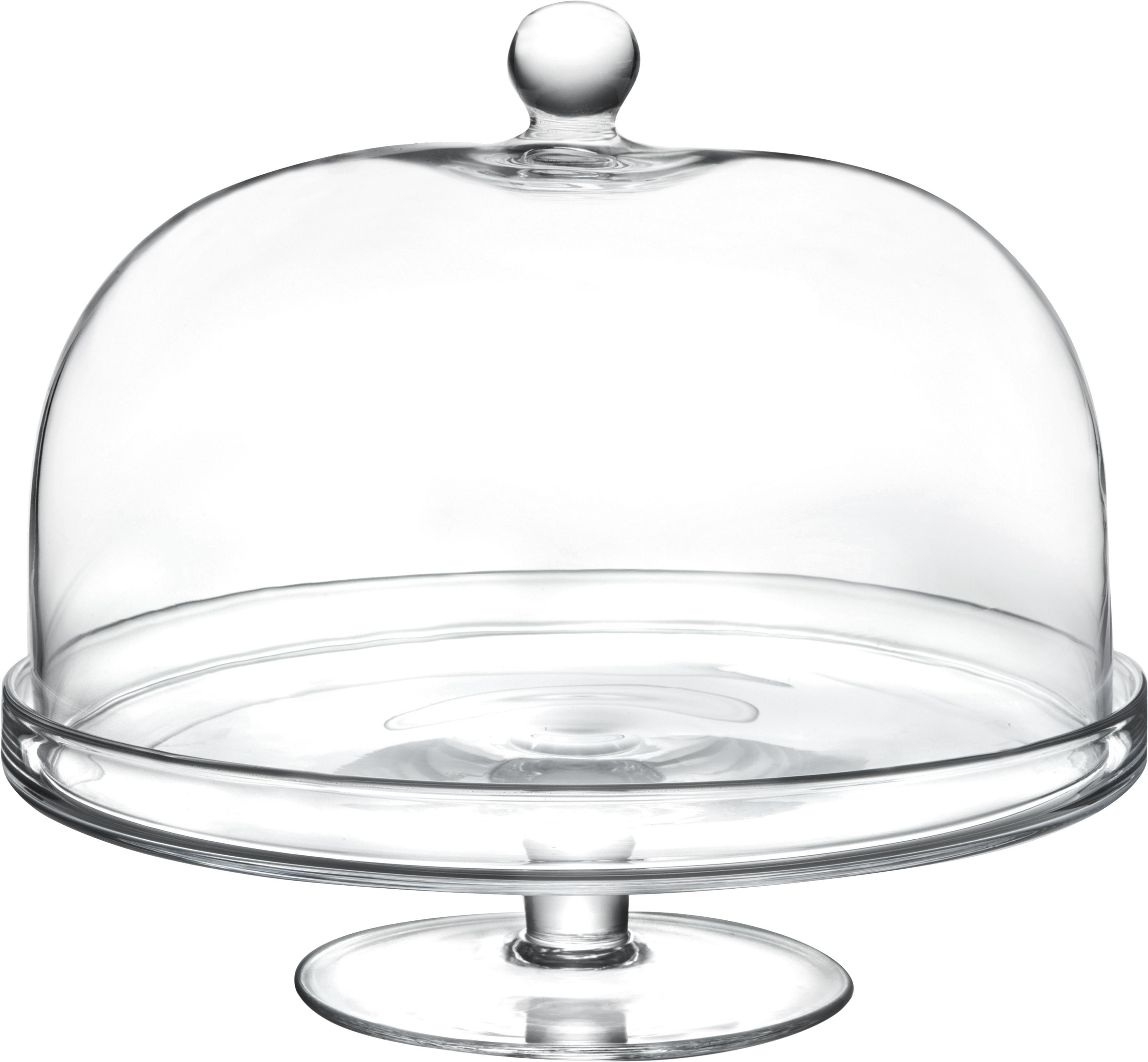 Kristallen taartplaat Lia, Luxion kristalglas, Transparant, Ø 30 x H 26 cm