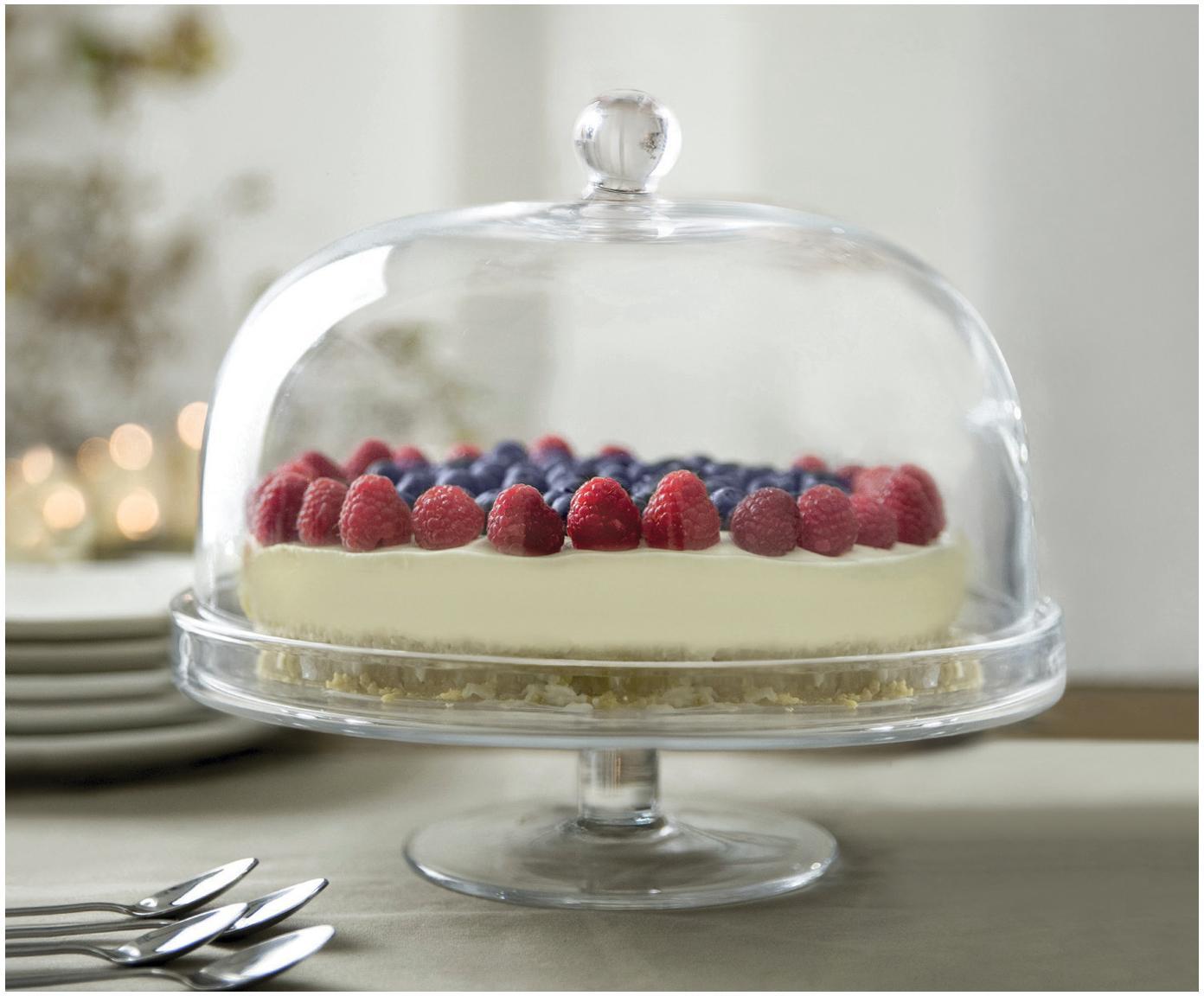 Krištáľový podstavec na tortu Lia, Priesvitná