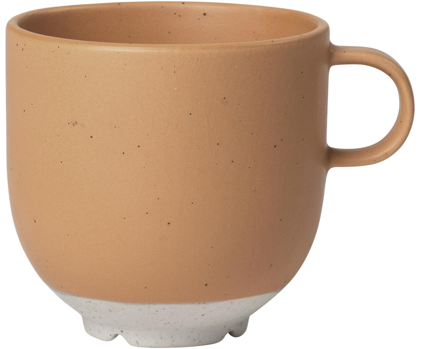 Steingut-Tassen Eli mit mattem Finish, 4 Stück, Steingut, Hellbraun, Beige, Ø 8 x H 8 cm