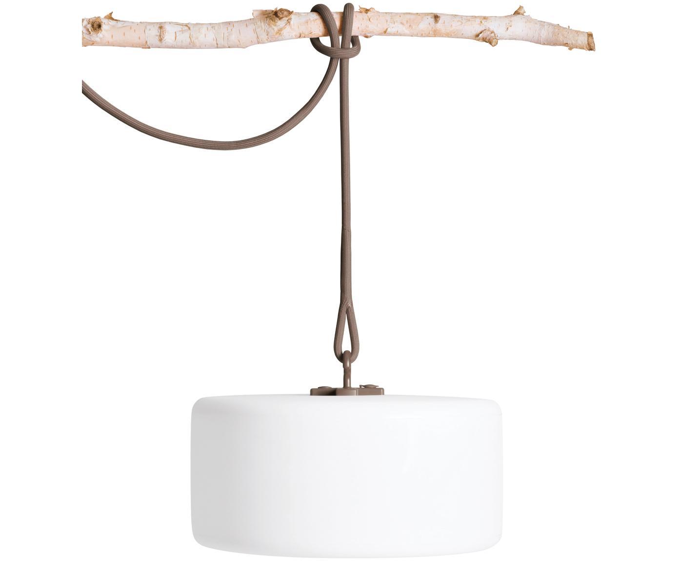 Mobile LED Außenleuchte Thierry, Weiß, Taupe, Ø 41 x H 21 cm