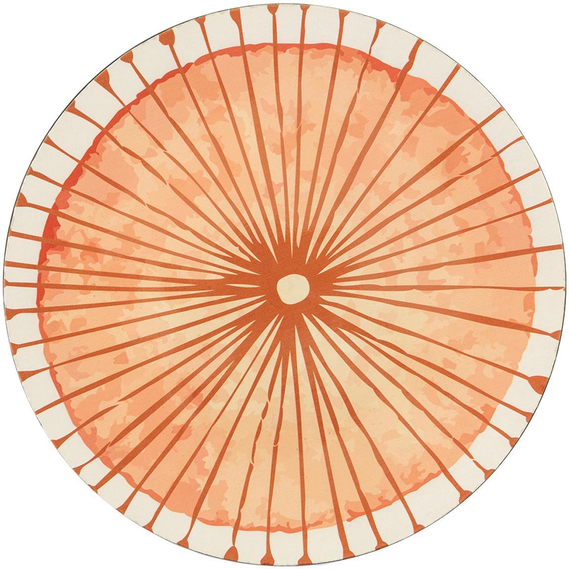 Onderbord Marea in verschillende designs, 6-delig, Kunststof, Blauw, wit, geel, groen, oranje, Ø 33 cm