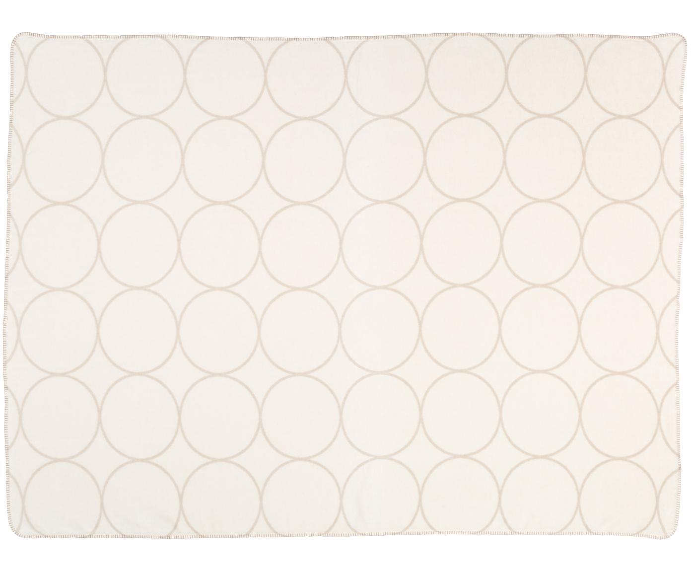 Velour-Wendeplaid Bamboo Circles, Webart: Jacquard, Beigetöne, 150 x 200 cm