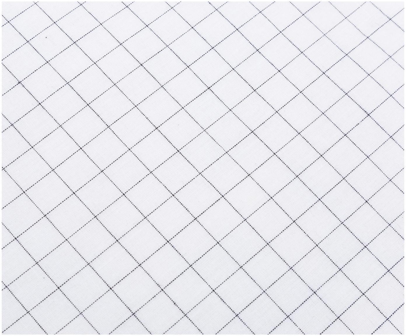 Renforcé dekbedovertrek Valerio, Weeftechniek: renforcé, Wit, grijs, 240 x 220 cm