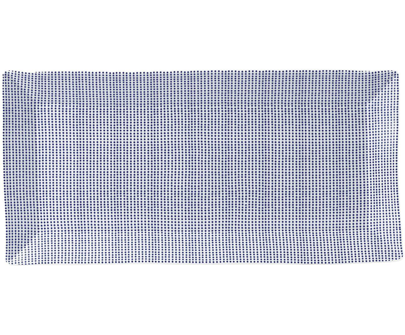 Gemusterte Porzellan-Servierplatte Pacific, Porzellan, Weiß, Blau, 18 x 39 cm