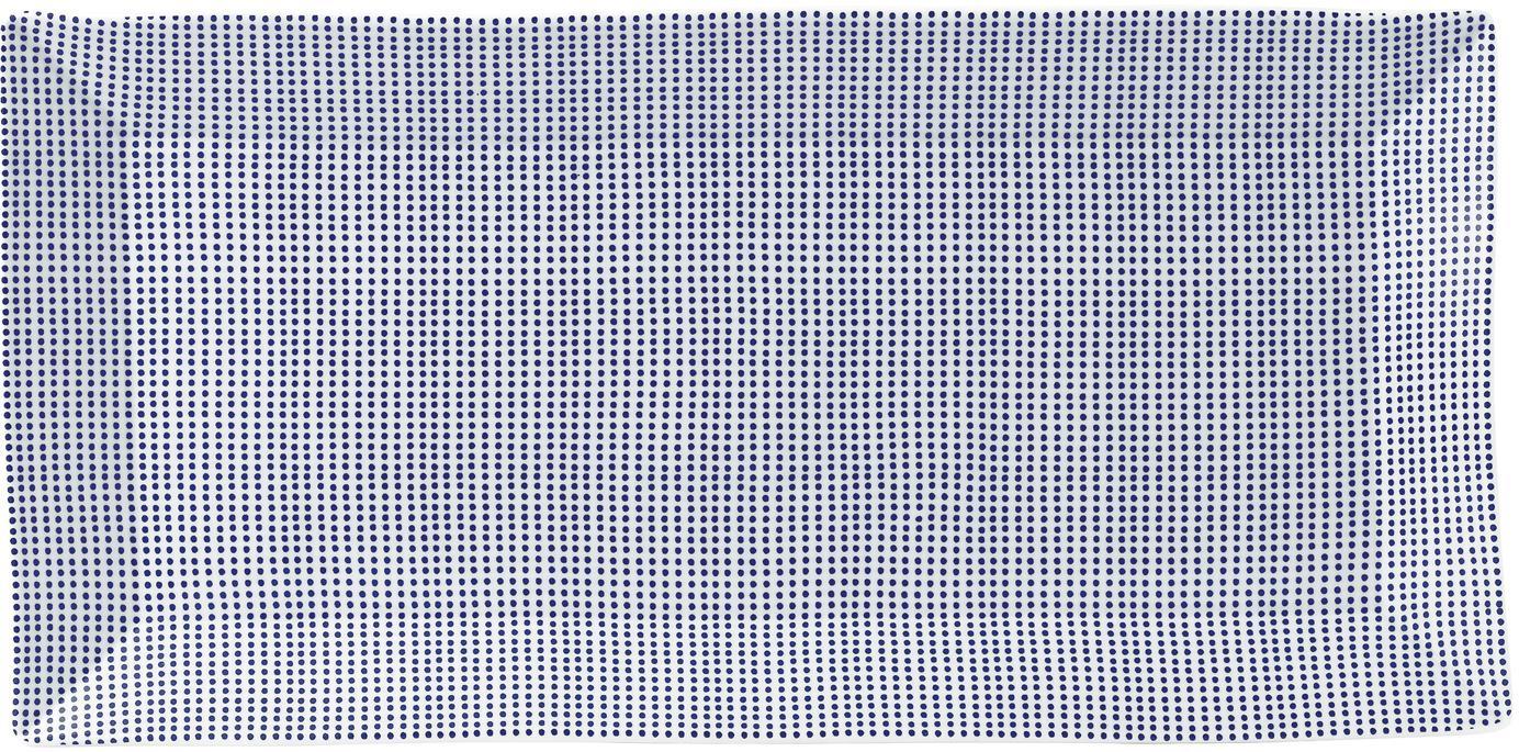 Porseleinen serveerplateau Pacific met patroon, Porselein, Wit, blauw, 18 x 39 cm