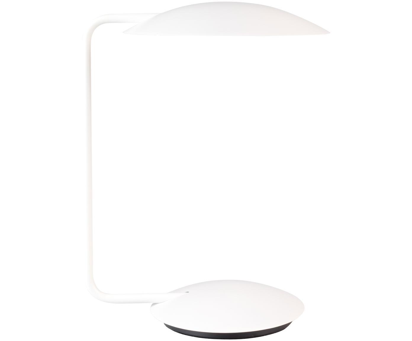 Lámpara de mesa regulable Pixie, Cable: cubierto en tela, Blanco, An 25 x Al 39 cm