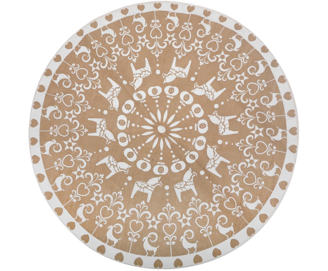 Sotto tappeto per albero di Natale Lily, Juta, Iuta, bianco, Ø 100 cm