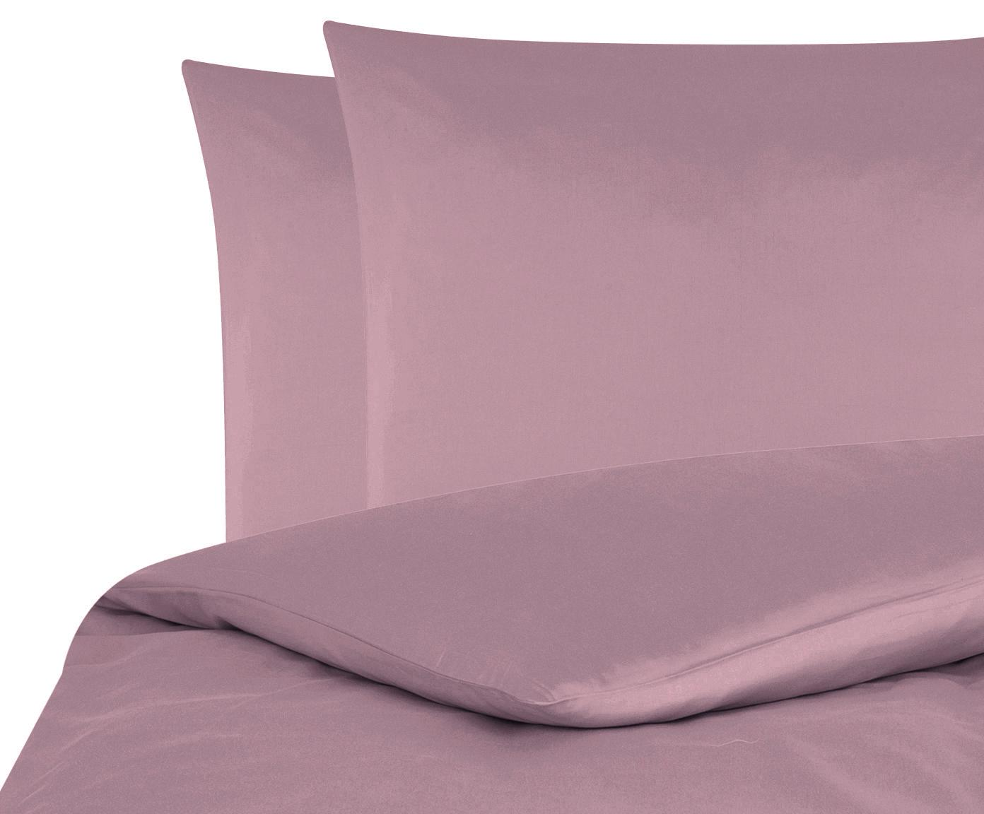 Parure copripiumino in raso di cotone Comfort, Malva, 255 x 200 cm