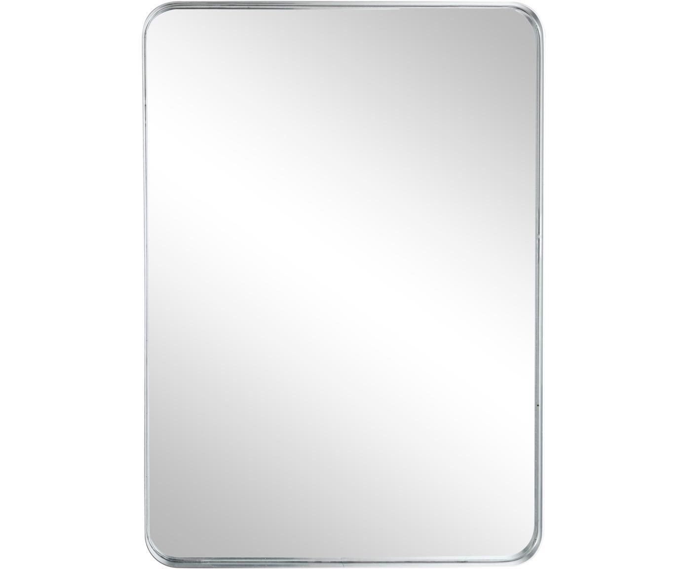 Wandspiegel Sile mit Metallrahmen in Silber, Rahmen: Metall, Spiegelfläche: Spiegelglas, Silberfarben, 40 x 56 cm