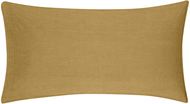 Poszewka na poduszkę z efektem Soft-Washed Arlene, 2 szt., Żółty, S 40 x D 80 cm