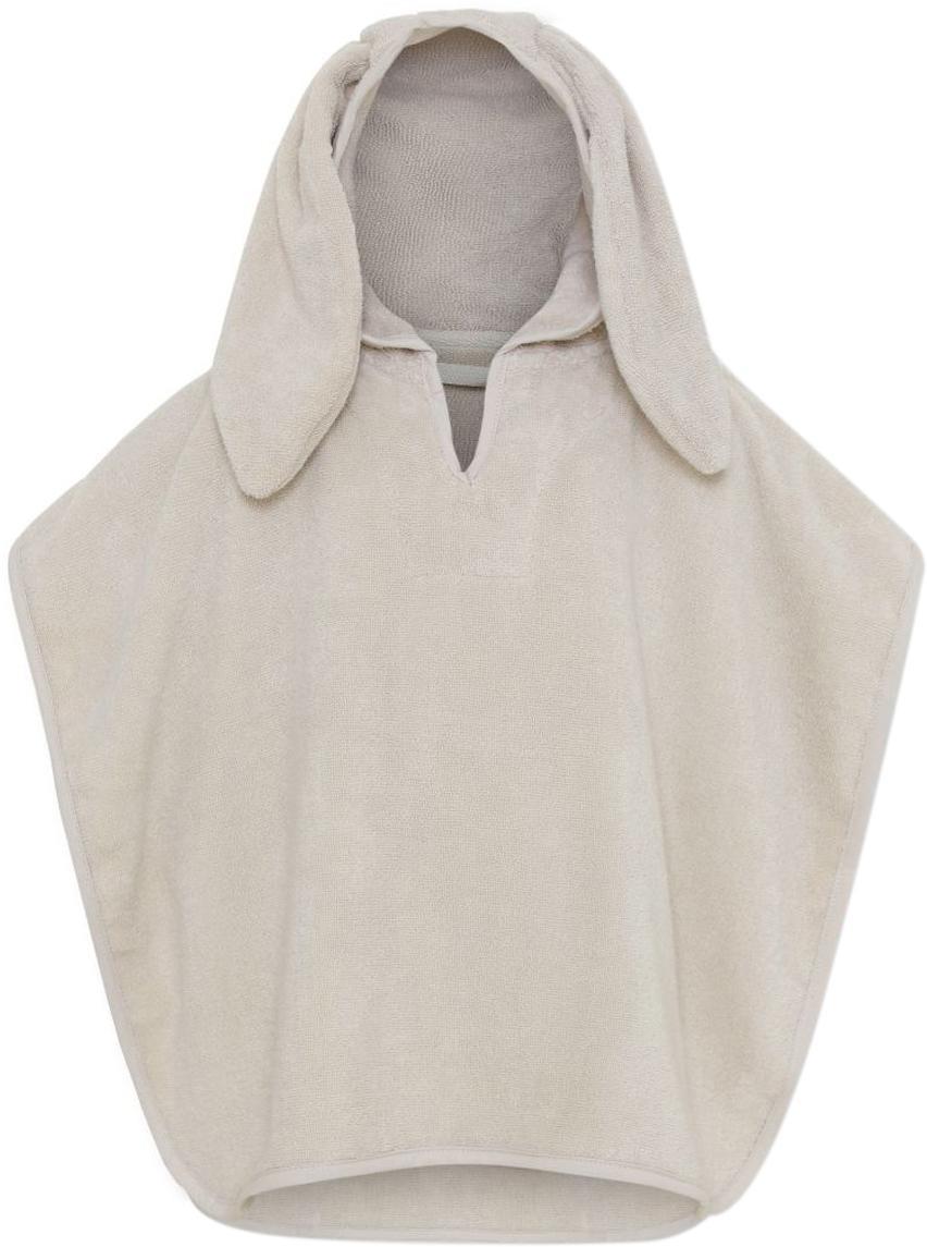 Poncho de algodón ecológico Terry, Algodón ecológico, Beige, An 25 x Al 30 cm
