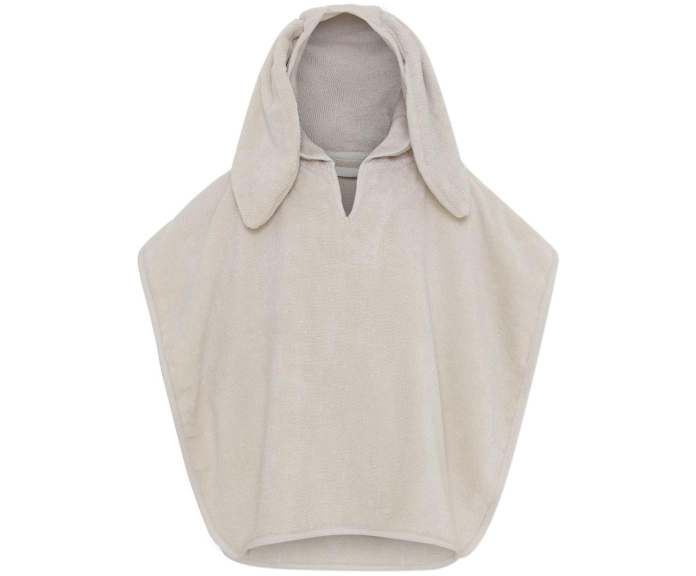 Poncho Terry aus Bio-Baumwolle, Bio-Baumwolle, Beige, 25 x 30 cm