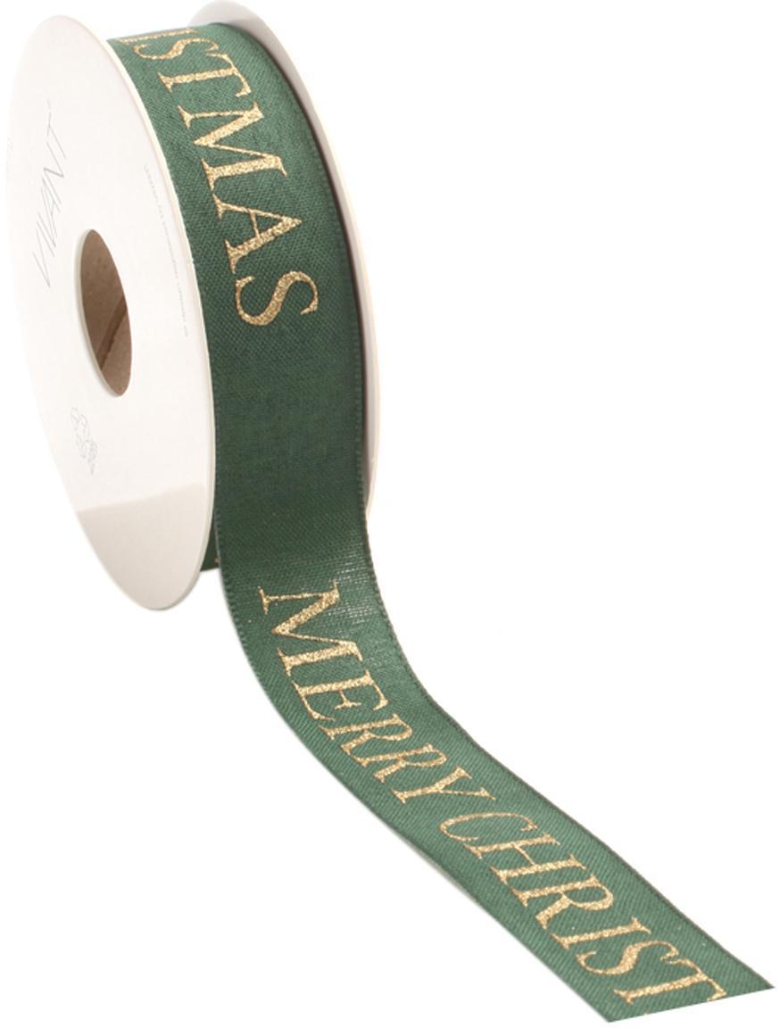 Cadeaulint Textire, Polyester, Groen, goudkleurig, 3 x 1500 cm