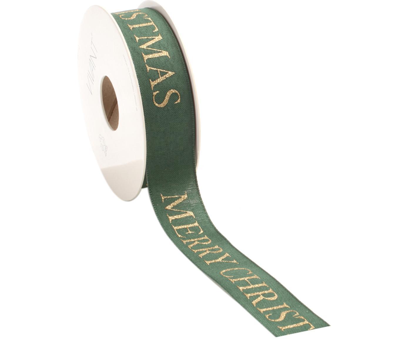 Geschenkband Textire, Polyester, Grün, Goldfarben, 3 x 1500 cm