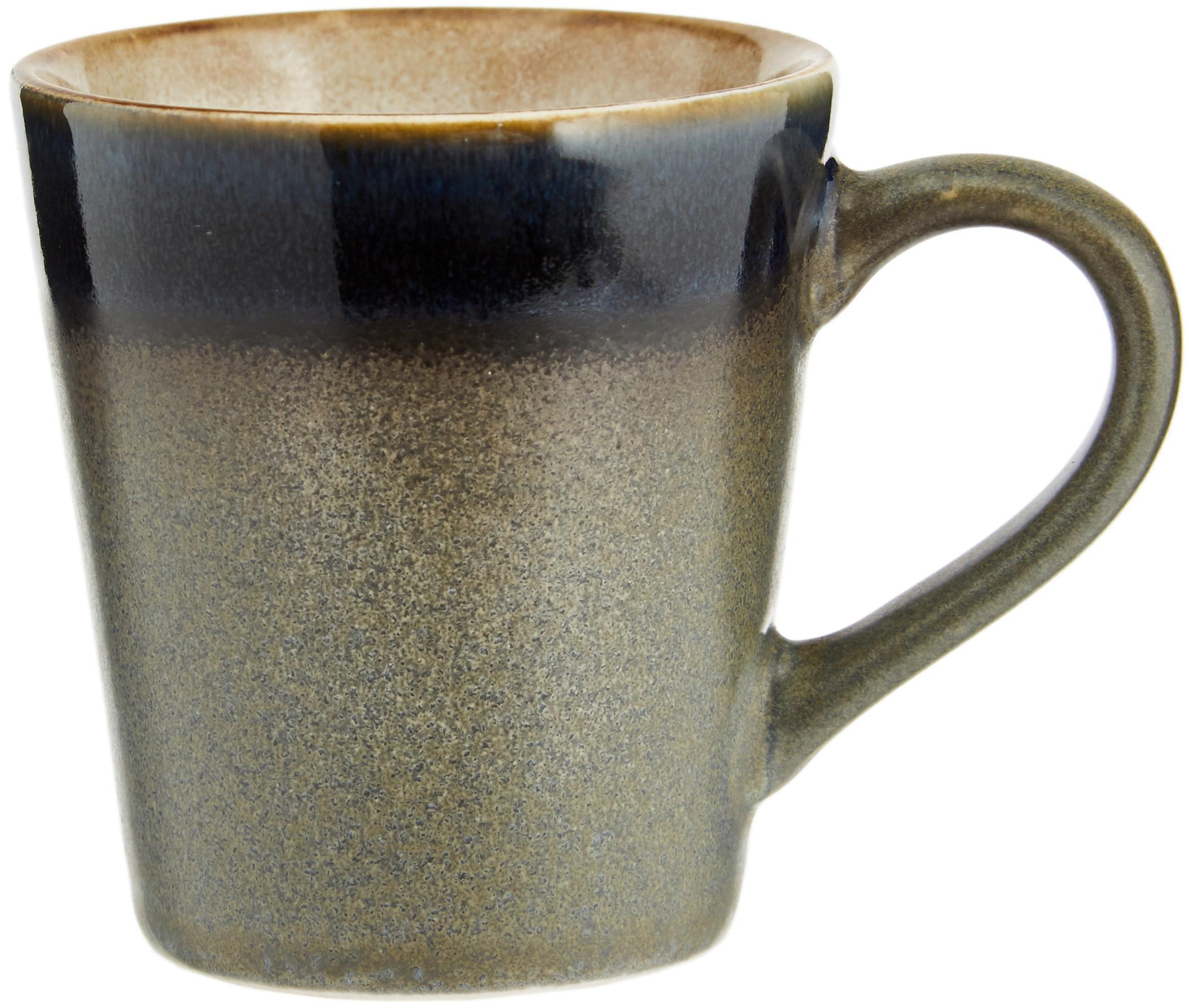 Handgemachte Espressotassen 70's im Retro Style, 4er-Set, Keramik, Mehrfarbig, Ø 6 x H 6 cm
