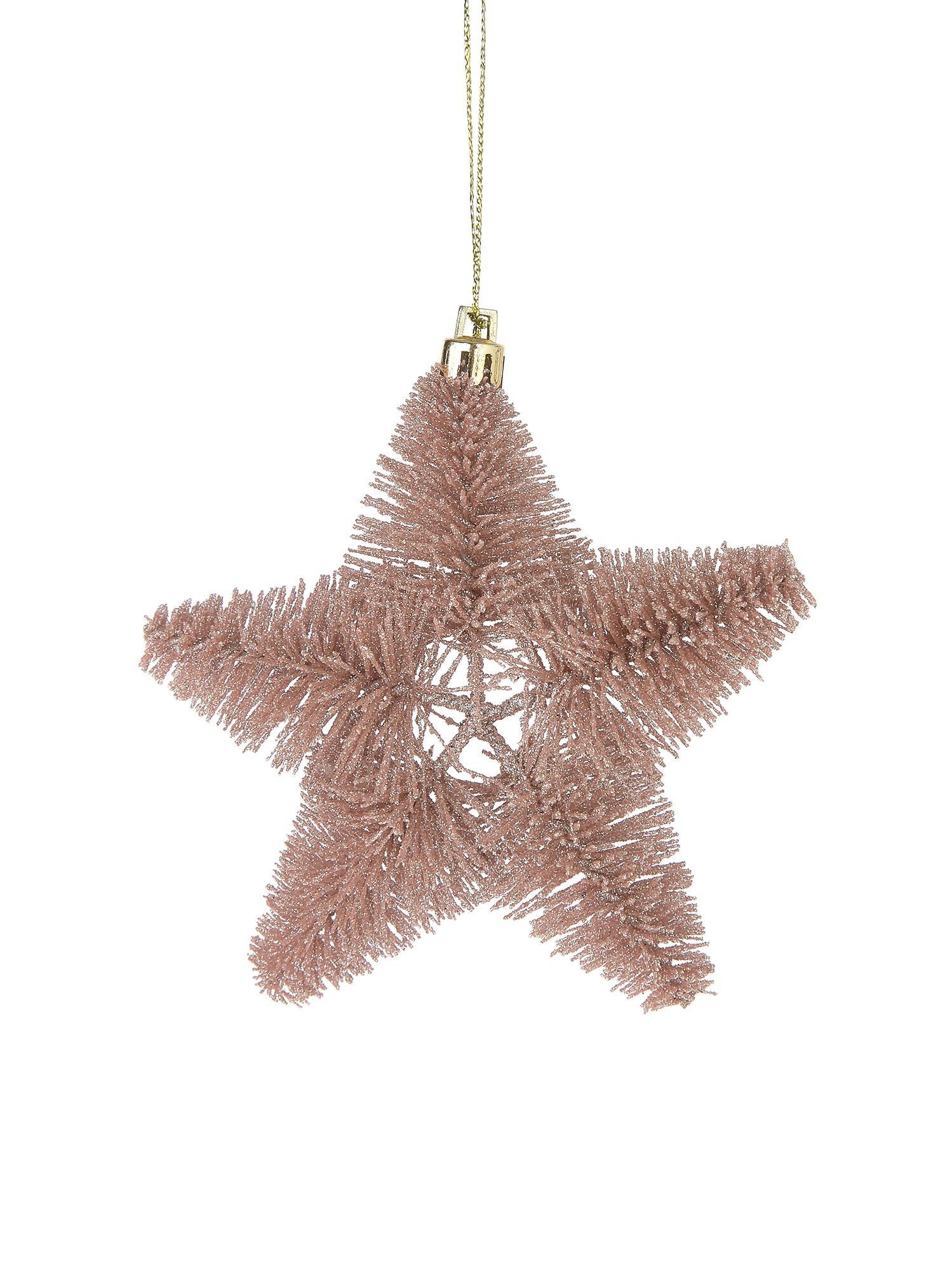 Ciondolo natalizio Sonja, Materiale sintetico, Rosa, Ø 12 cm