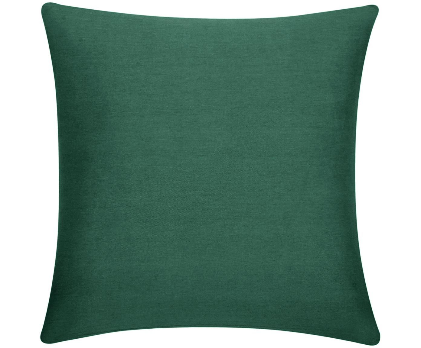 Funda de cojín de algodón Mads, Algodón, Verde, An 40 x L 40 cm