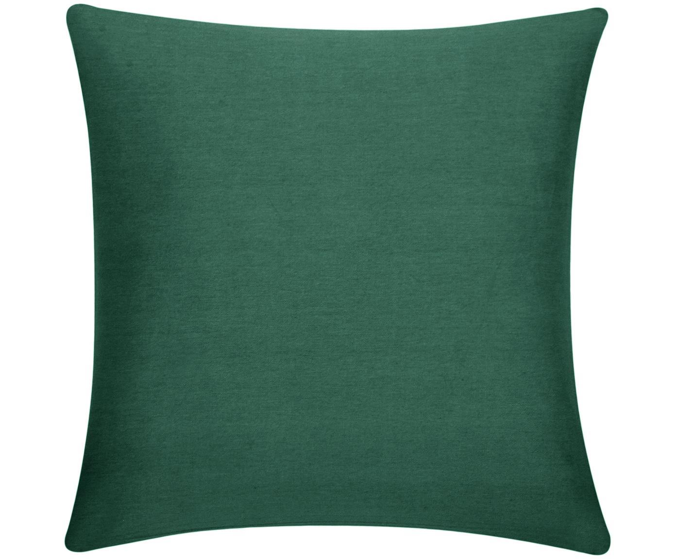Kussenhoes Mads, 100% katoen, Groen, 40 x 40 cm