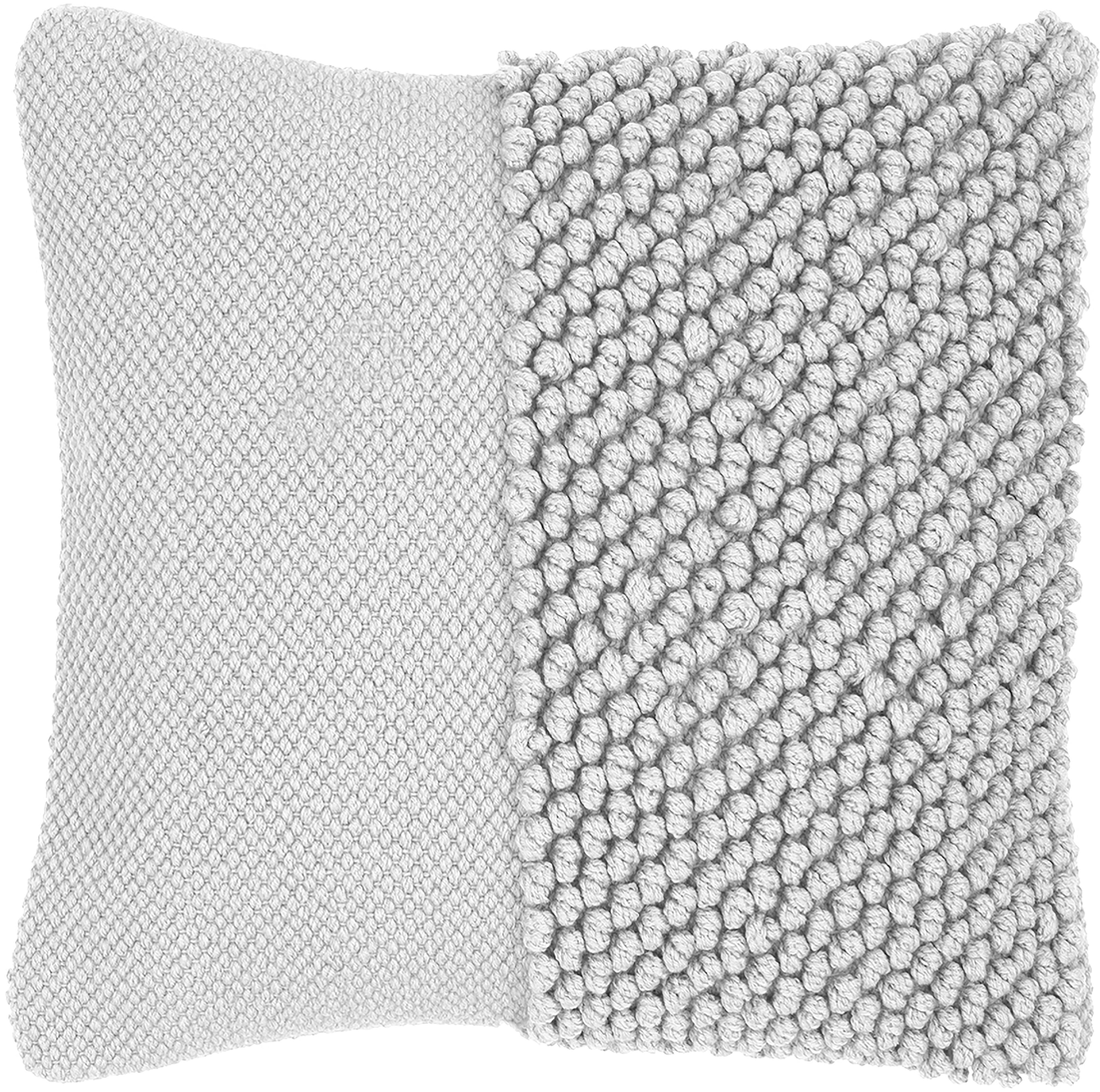 Poszewka na poduszkę Andi, 90% akryl, 10% bawełna, Jasny szary, S 40 x D 40 cm