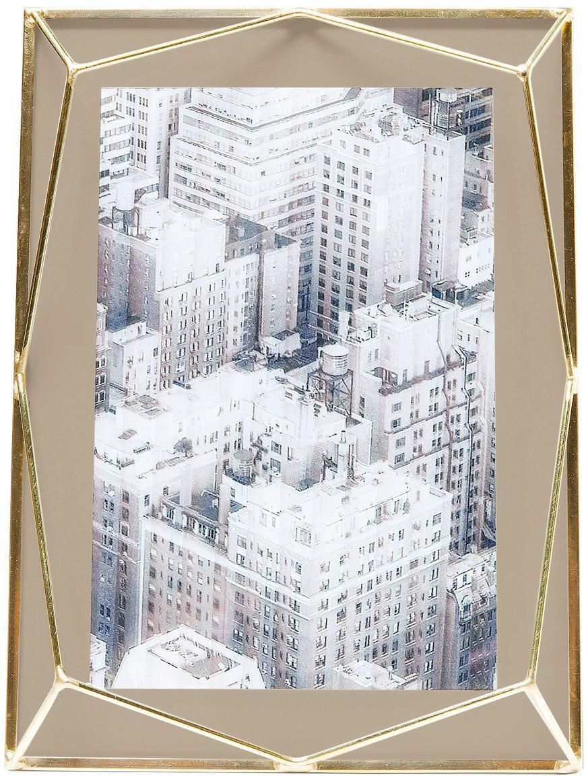 Portafoto da tavolo dorato Art Pastel, Cornice: metallo ottonato placcato, Ottone, beige, 10 x 15 cm