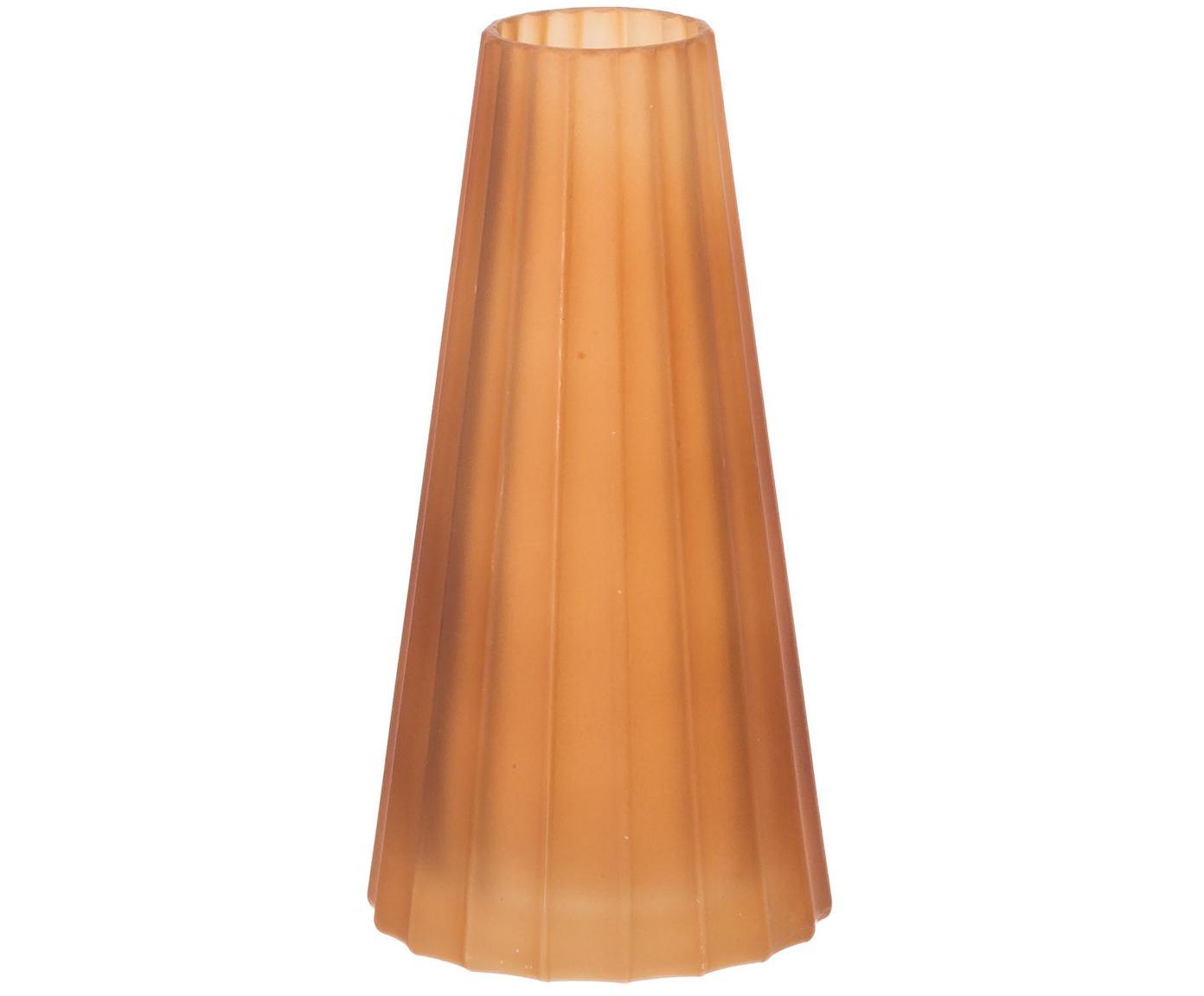 Glas-Vase Vilja, Glas, Braun, Ø 8 x H 16 cm