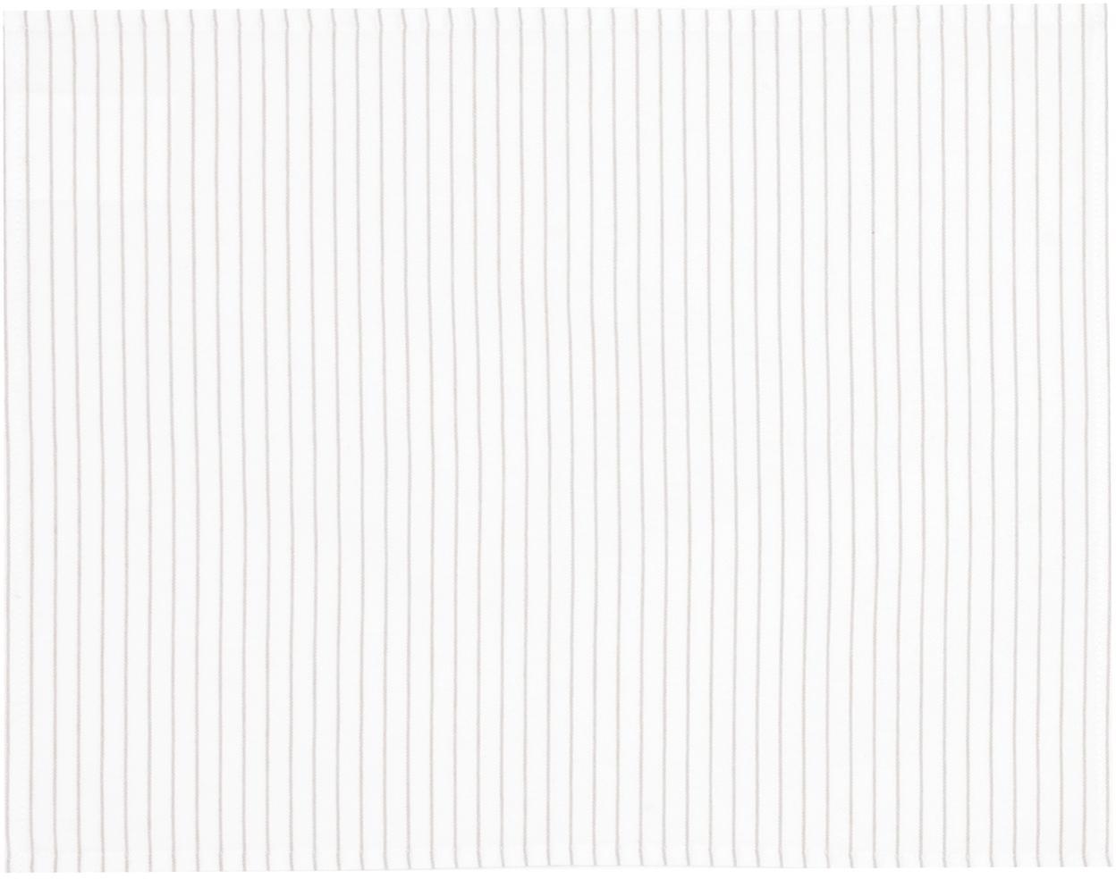 Placemats Nicole van katoen, 2 stuks, Katoen, Wit, beige, 40 x 50 cm
