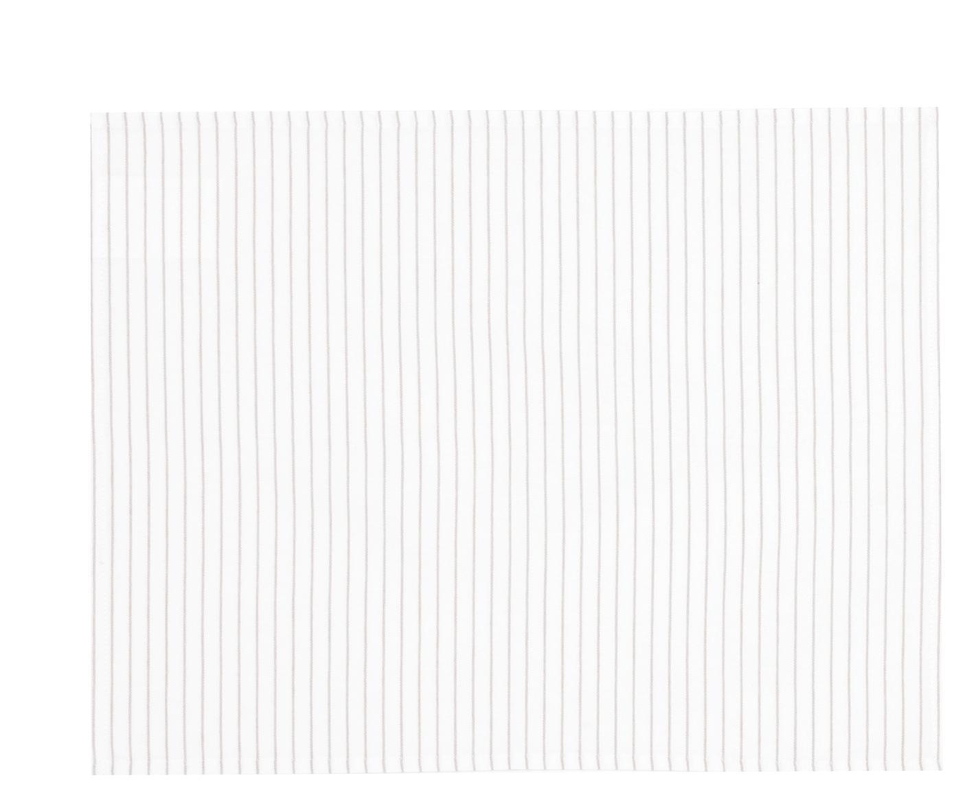 Tischsets Nicole aus Baumwolle, 2 Stück, Baumwolle, Weiß, Beige, 40 x 50 cm