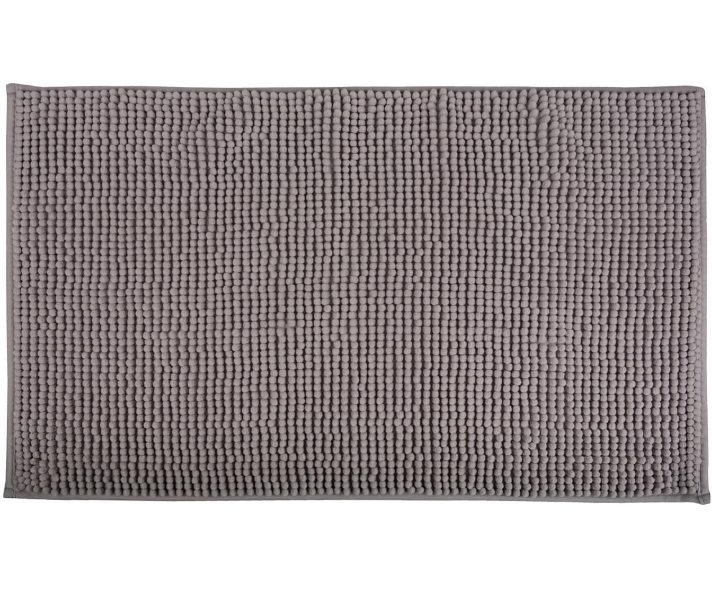 Tappeto bagno Johanna, 100% poliestere, Grigio, Larg. 45 x Lung. 75 cm