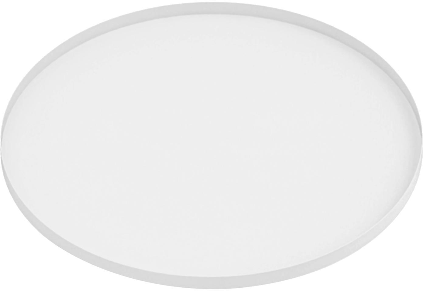 Dienblad Arla, Gecoat metaal, Wit, Ø 41 cm