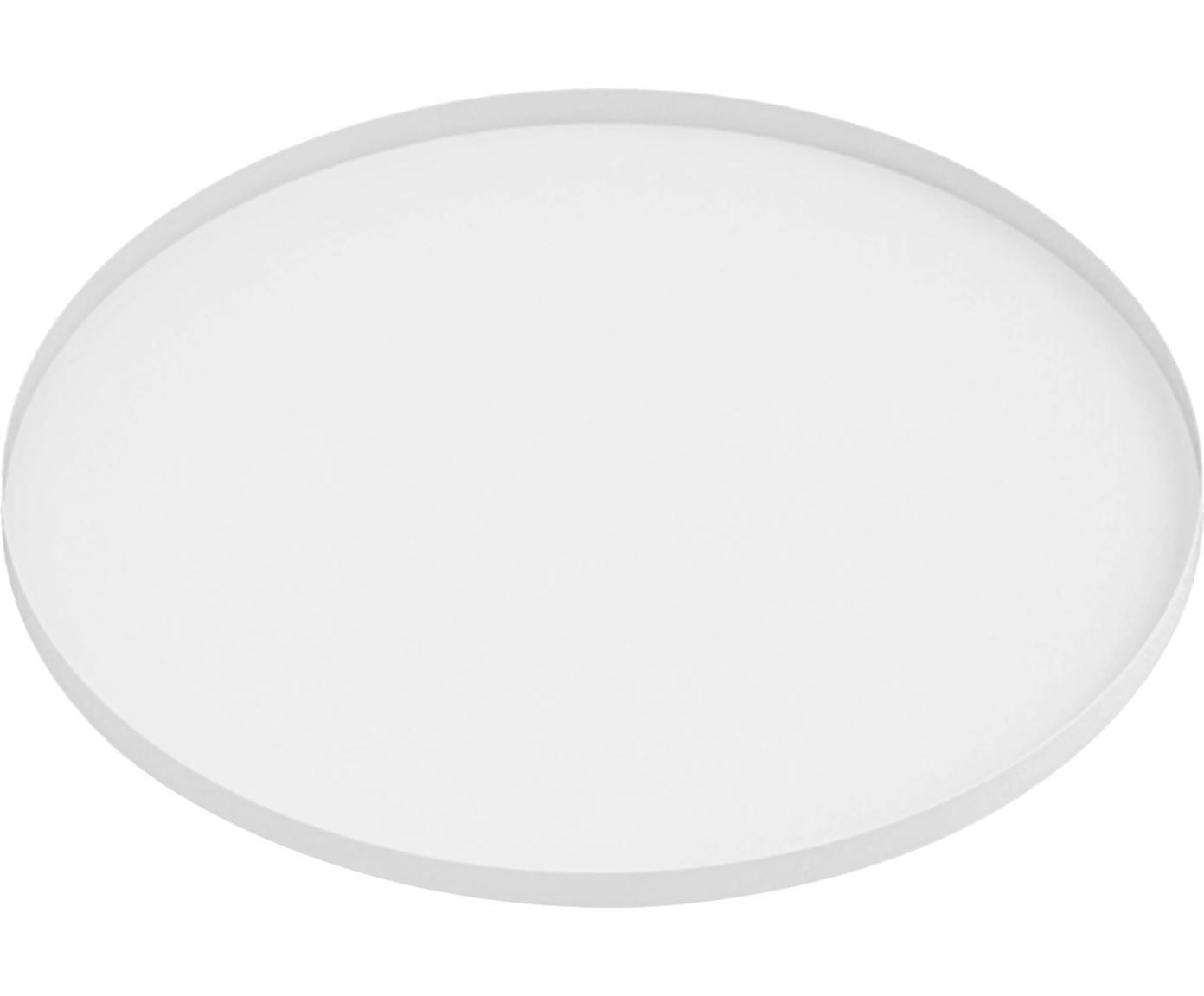 Tablett Arla, Metall, beschichtet, Weiß, Ø 41 cm