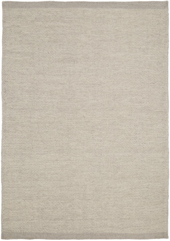 Handgewebter Kelimteppich Delight aus Wolle in Hellgrau, Hellgrau, B 140 x L 200 cm (Größe S)