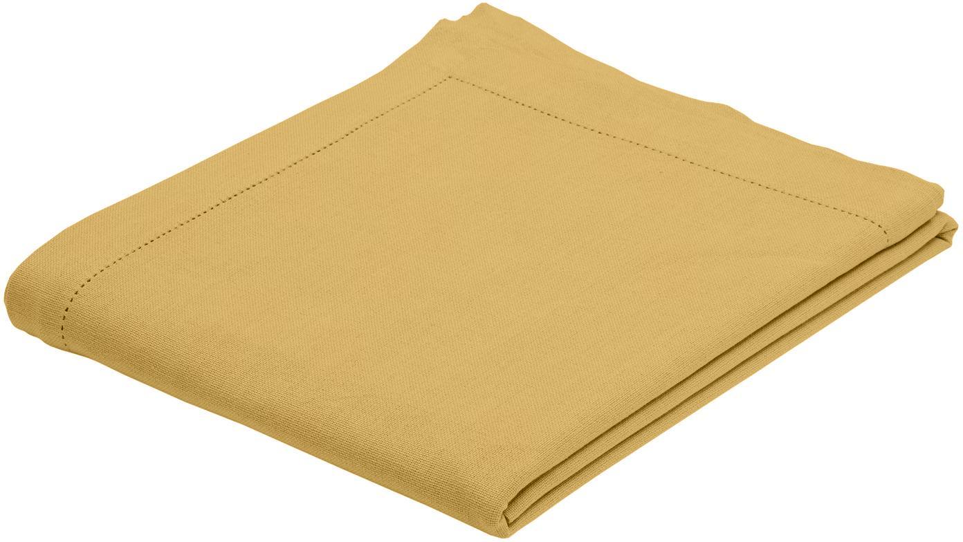 Tovaglia in cotone con ricamo Indi, Cotone, Giallo, Per 6-8 persone  (Larg.140 x Lung. 250 cm)