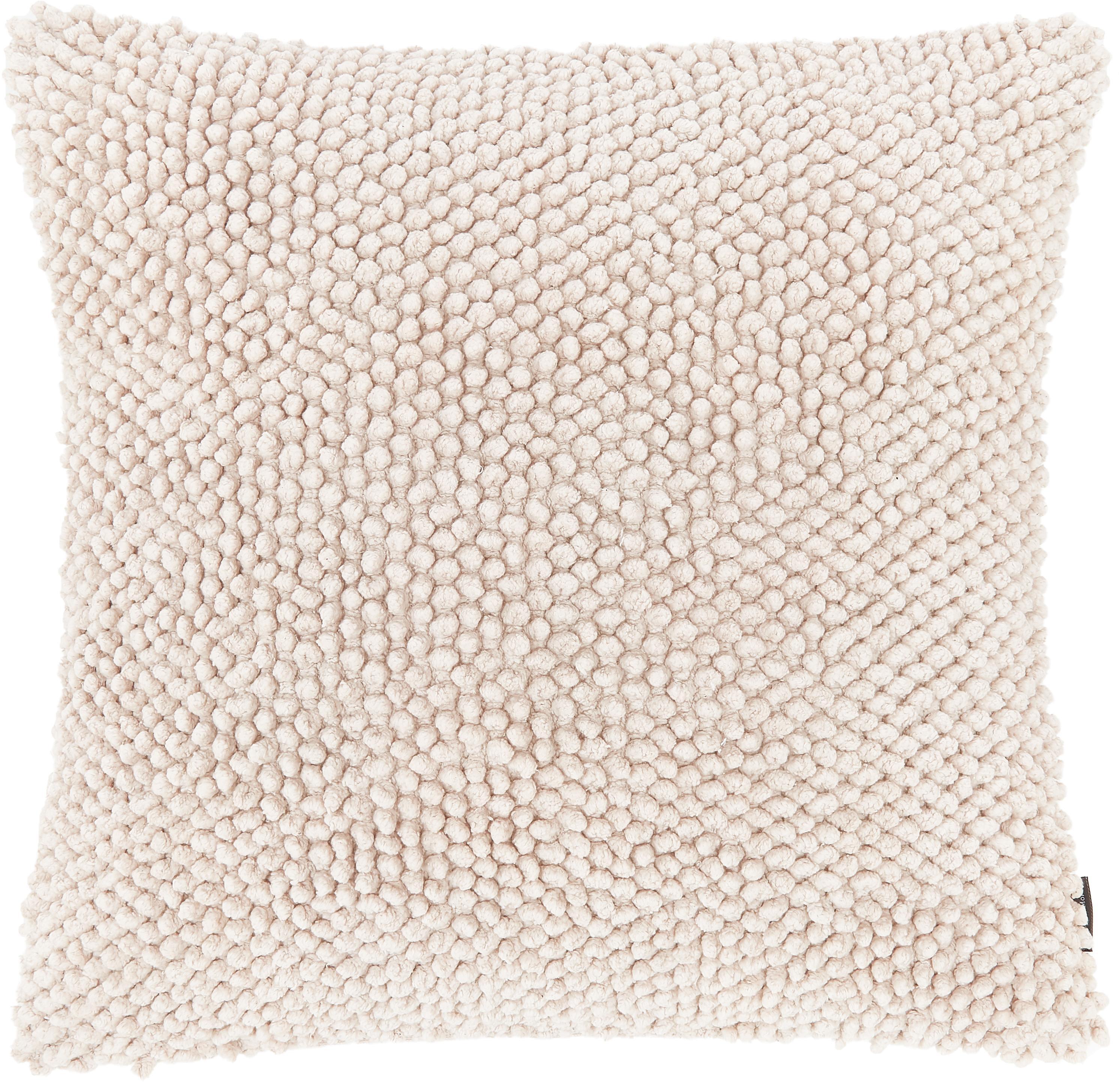 Kissenhülle Indi mit strukturierter Oberfläche, 100% Baumwolle, Gebrochenes Weiss, 45 x 45 cm