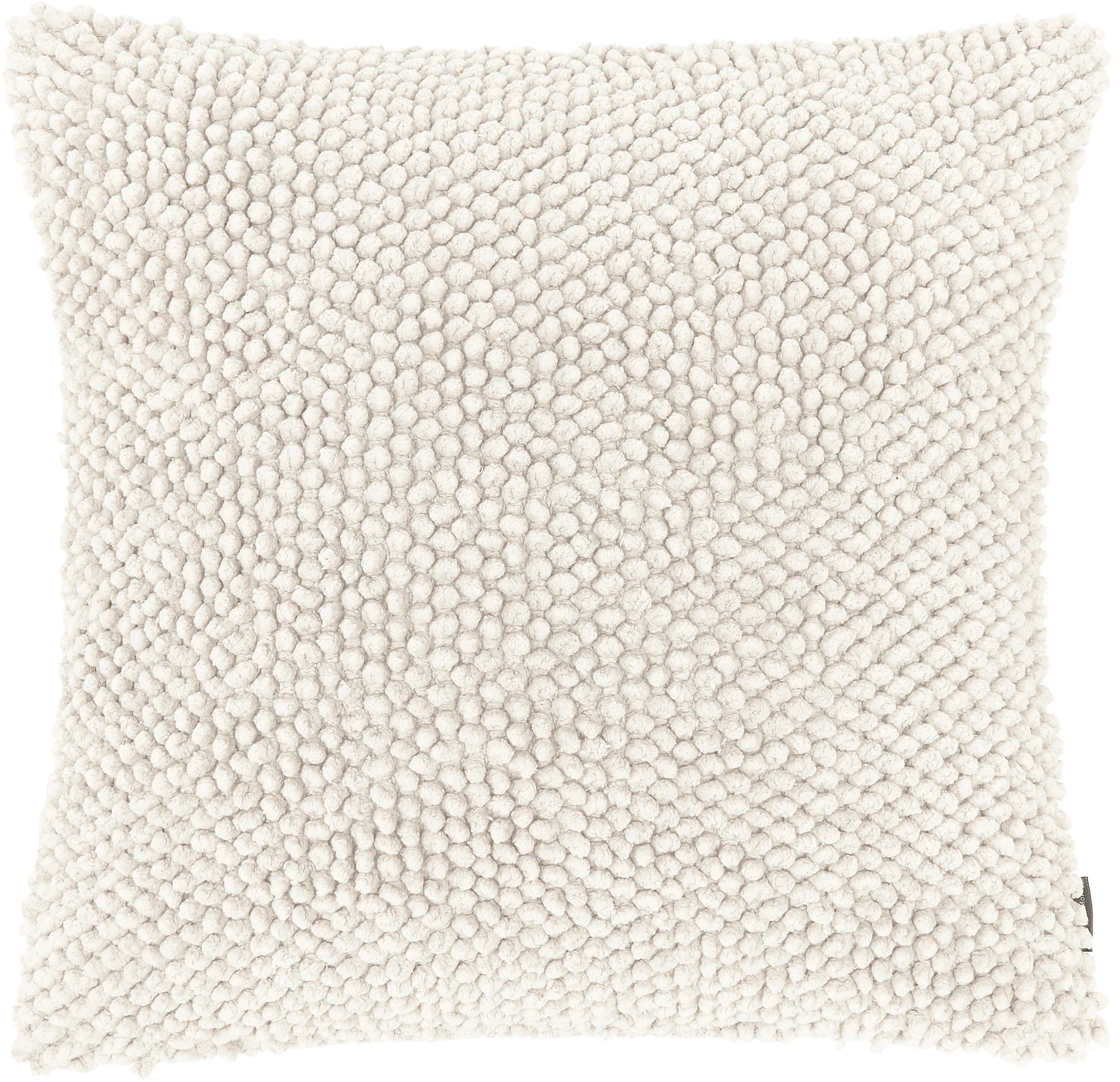 Kissenhülle Indi mit strukturierter Oberfläche in Cremeweiss, 100% Baumwolle, Gebrochenes Weiss, 45 x 45 cm