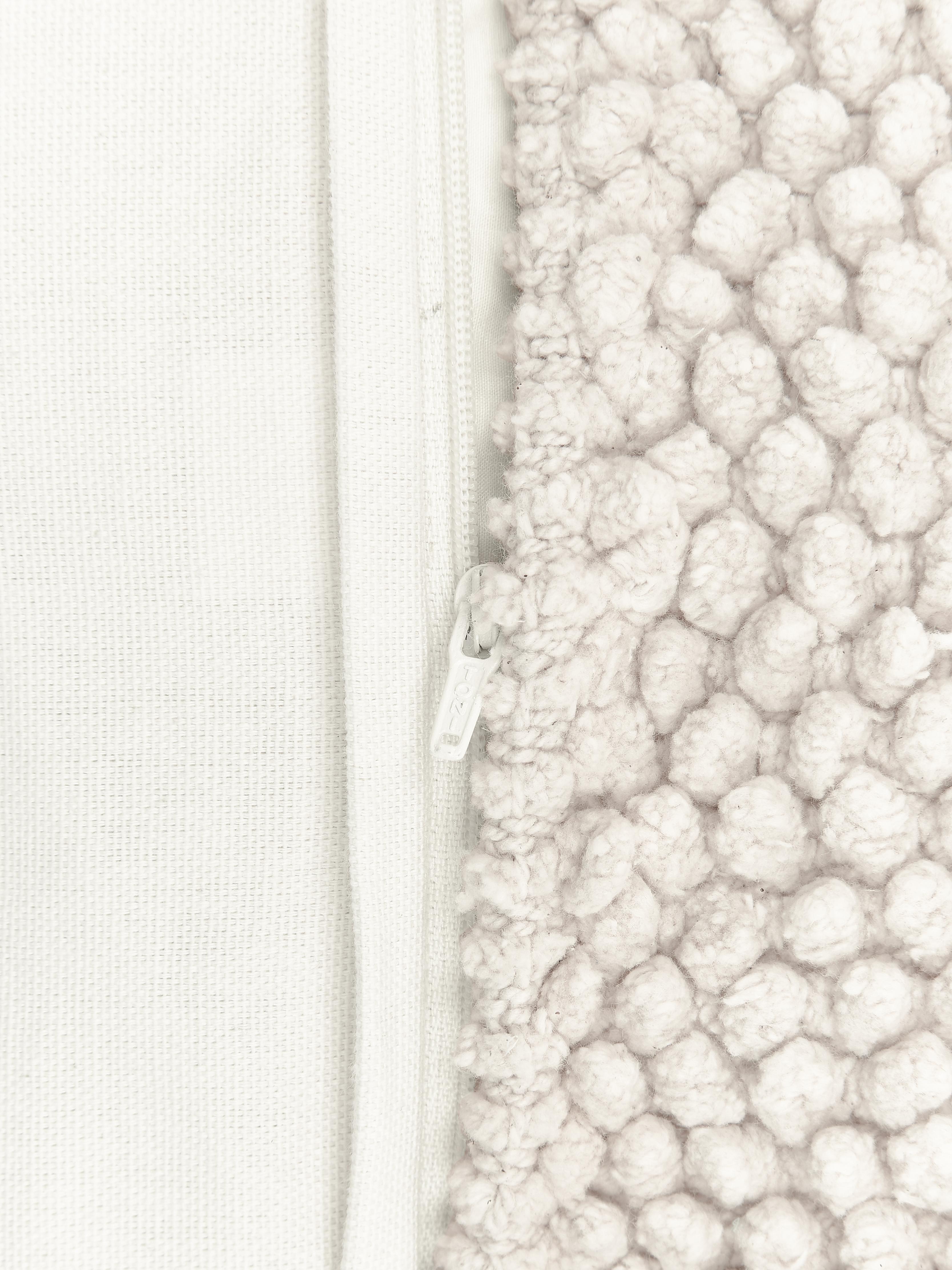 Housse de coussin 45x45 blanc cassé Indi, Blanc cassé